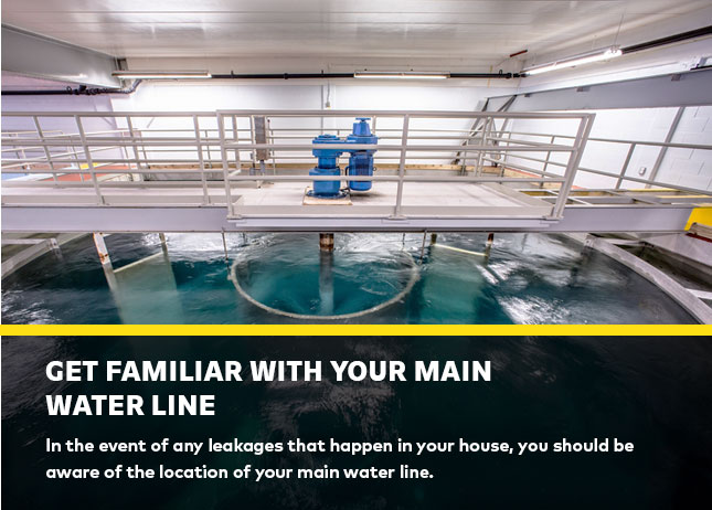 Get familiar with your main water line