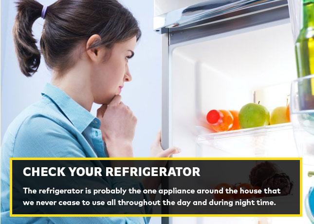 Check your refrigerator