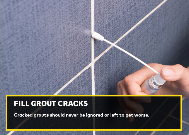 Fill grout cracks