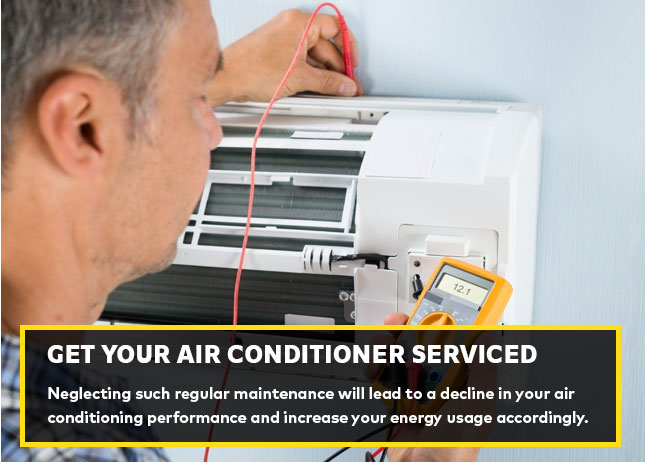 Get your air conditioner serviced