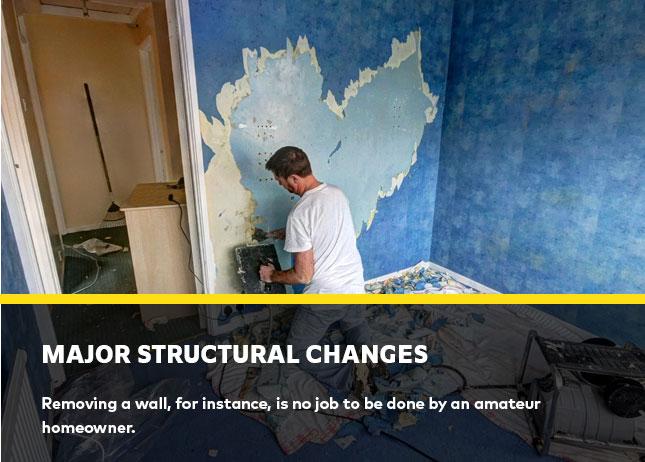 Major structural changes
