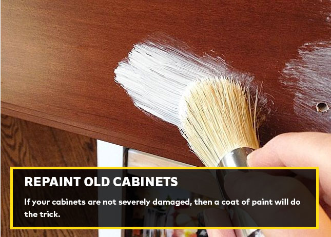 Repaint old cabinets