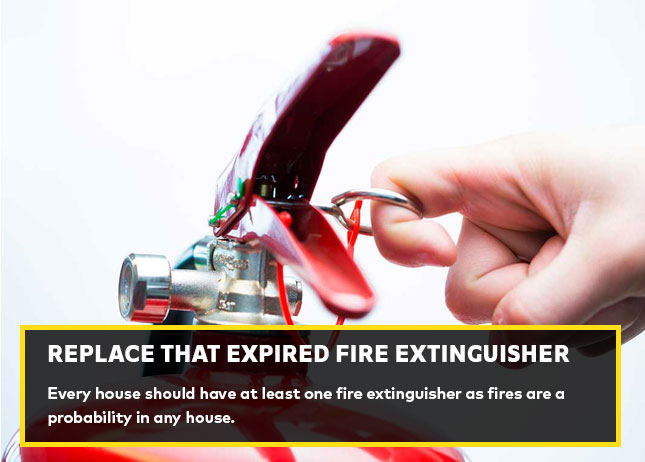 Replace that expired fire extinguisher