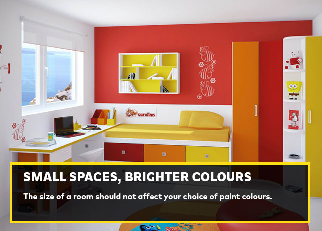 Small spaces, brighter colours