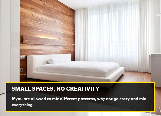 Small spaces, no creativity