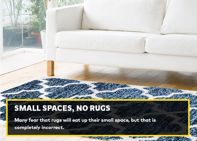 Small spaces, no rugs