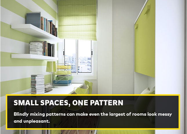Small spaces, one pattern