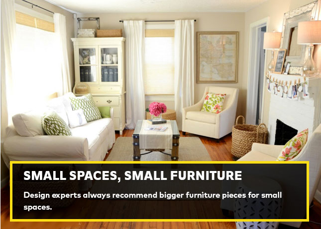 Small spaces, small furniture