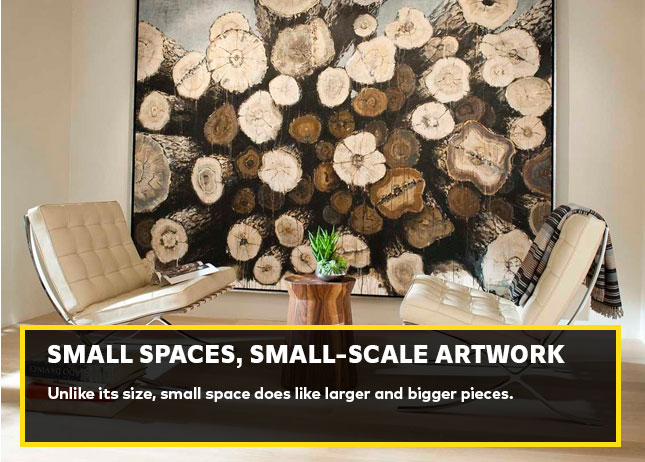 Small spaces, small-scale artwork