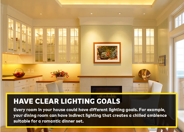 Have clear lighting goals