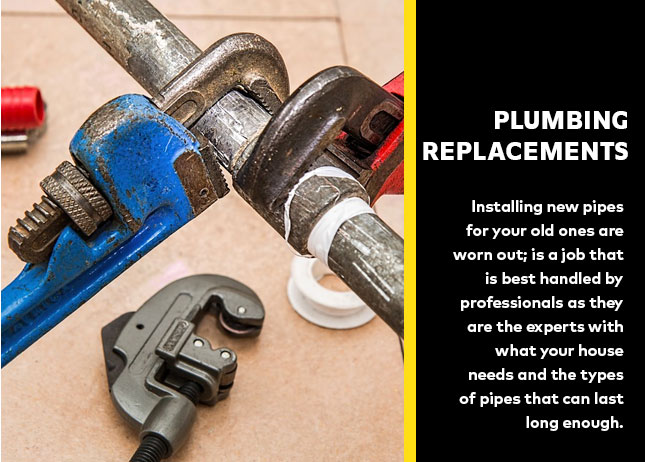Plumbing replacements