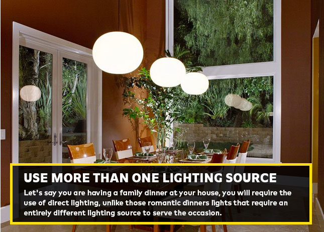 Use more than one lighting source