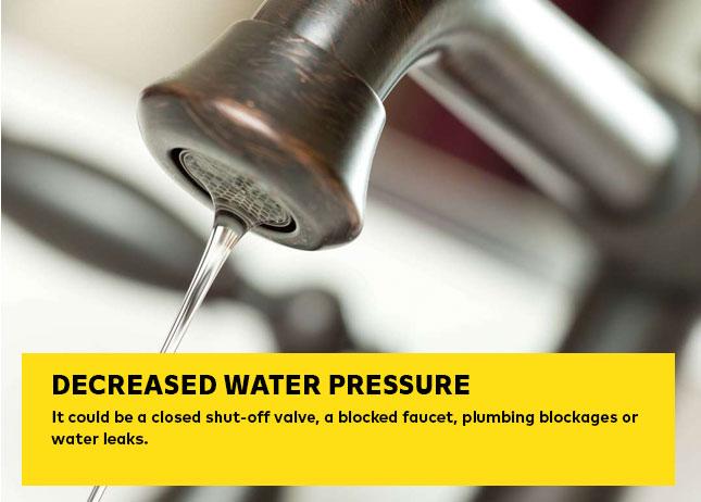 Decreased Water Pressure