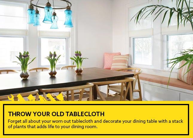 Throw your old tablecloth