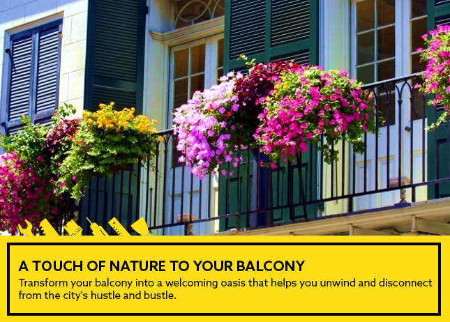 A touch of nature to your balcony