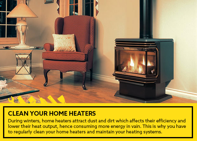 Clean your home heaters