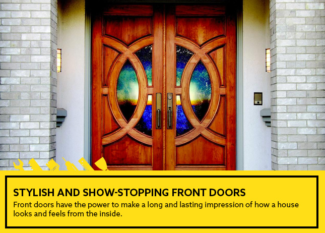 Stylish and show-stopping front doors