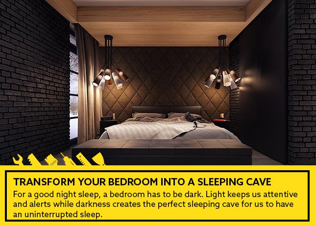 transform your bedroom - cave-en