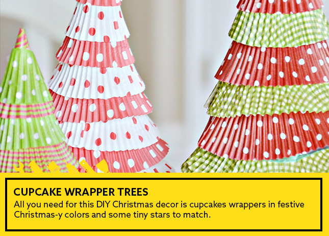 1- Cupcake wrapper trees