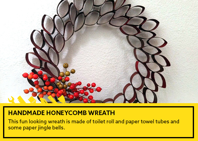 4- Handmade Honeycomb Wreath