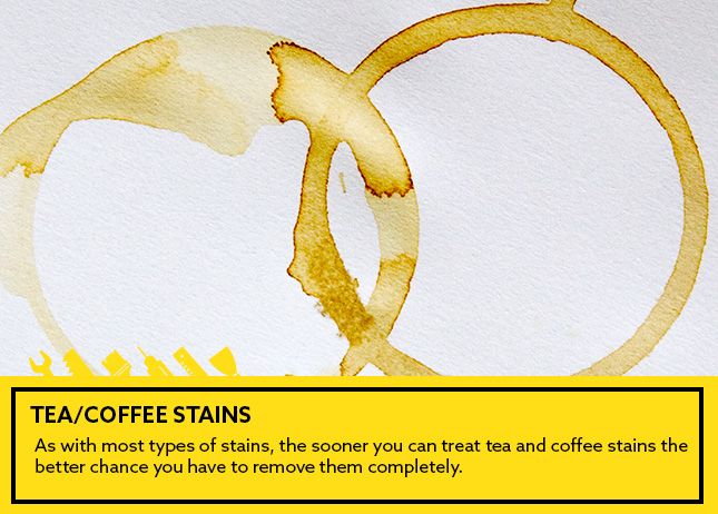 -Tea/coffee stains: