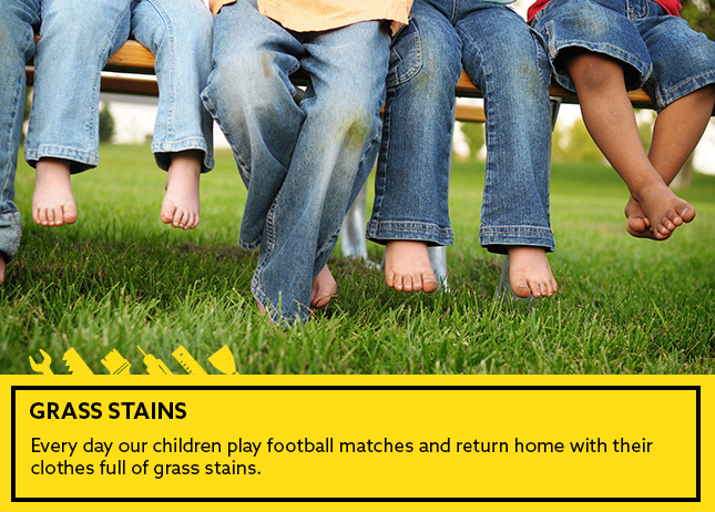 -Grass stains: