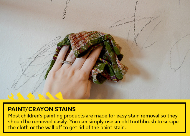 -Paint/Crayon stains: