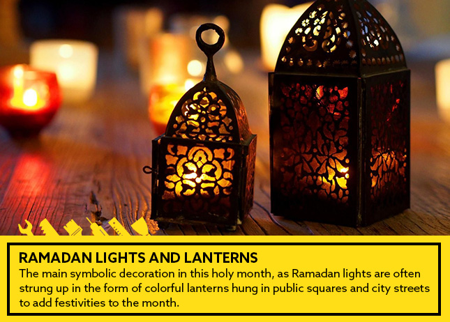 Ramadan lights and lanterns
