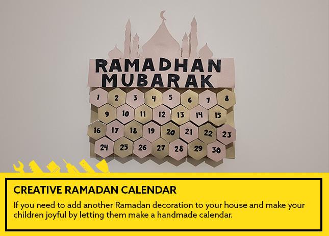 Creative Ramadan calendar
