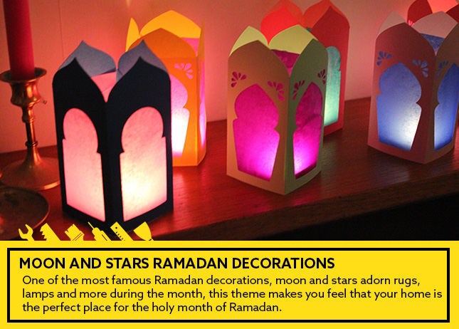 Moon and stars Ramadan decorations