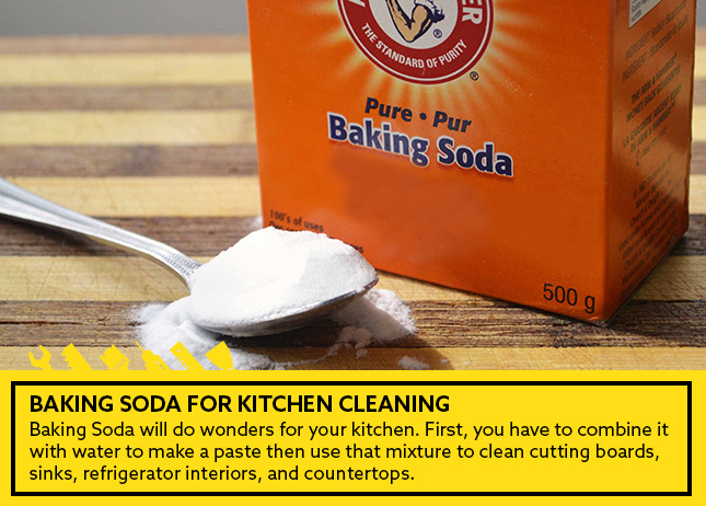 Baking Soda for kitchen cleaning